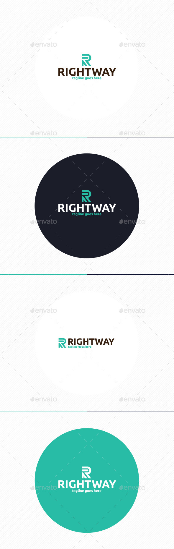 GraphicRiver Right Way Logo Letter R 10694192
