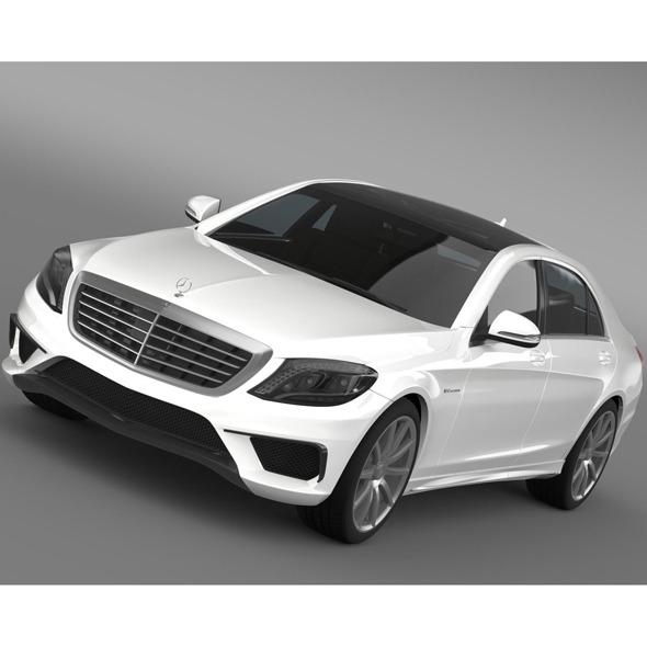 3DOcean Mercedes Benz S 63 AMG W222 2013 10694338