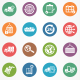 Logistics Circle Icons - GraphicRiver Item for Sale
