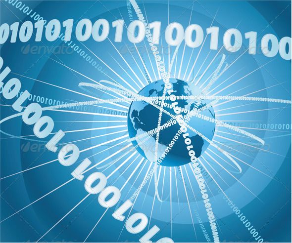 GraphicRiver Binary globe world background 133790