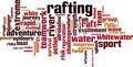 Rafting Word Cloud Concept - PhotoDune Item for Sale
