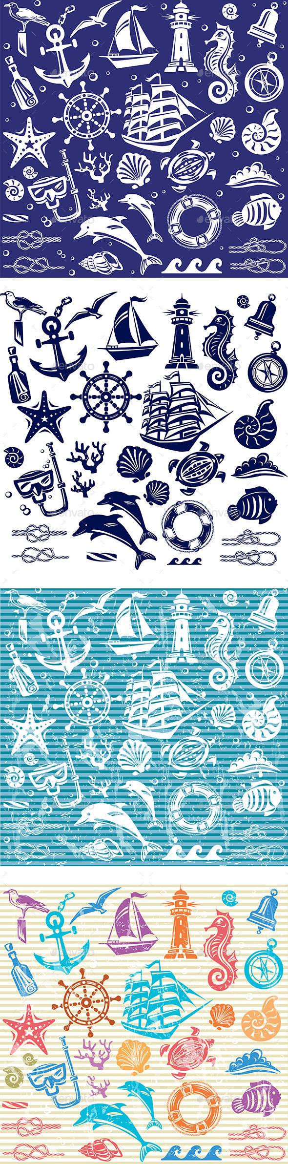 GraphicRiver Nautical and Sea Set 10694462