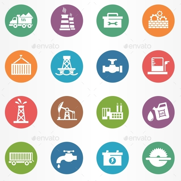 GraphicRiver Industry Circle Icons 10694542