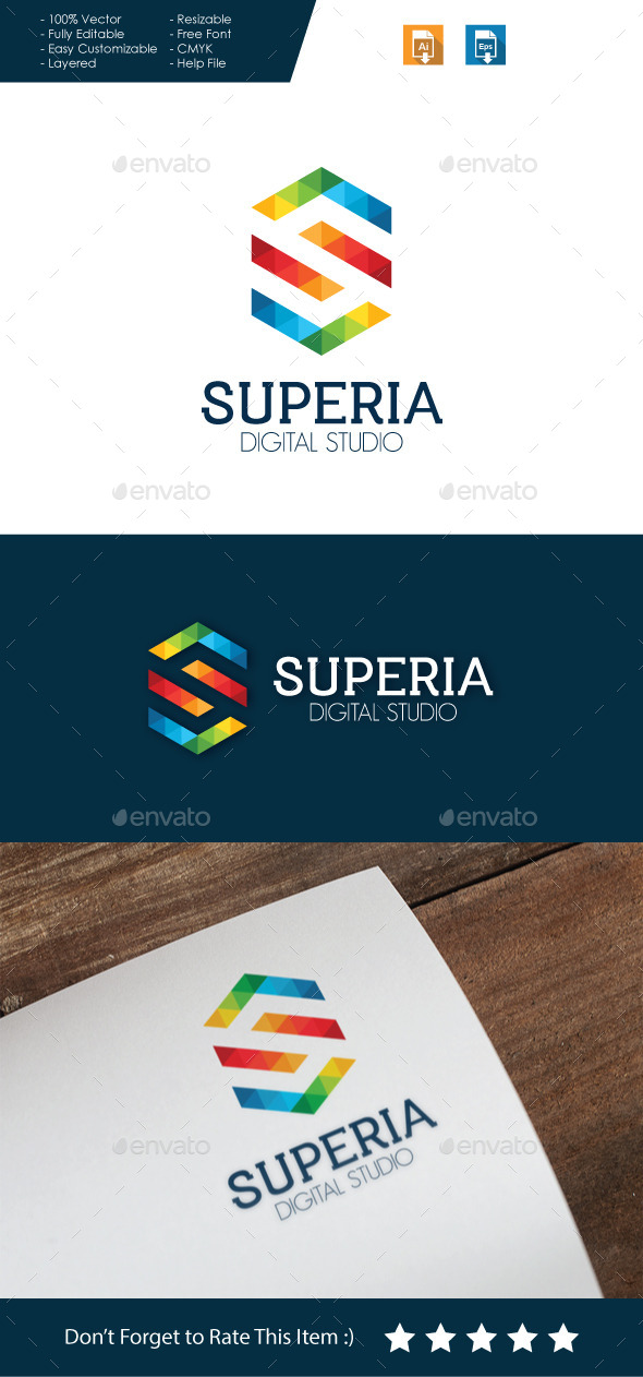 GraphicRiver Superia Letter S Logo 10694578