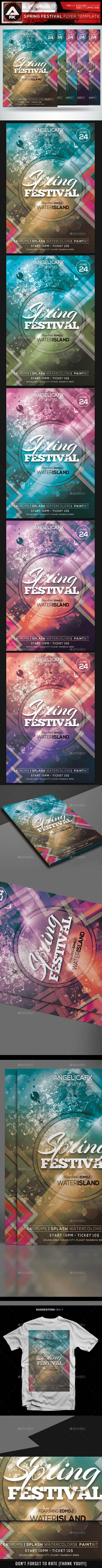 GraphicRiver Spring Festival Flyer Template 10694904