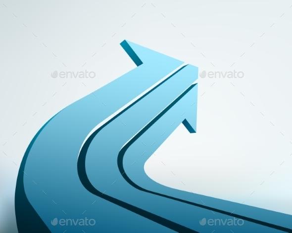GraphicRiver 3D Arrow Illustration 10694997