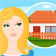 Young Woman Wants to Buy a House - GraphicRiver Item for Sale