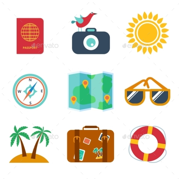 GraphicRiver Icons of Travel 10695024