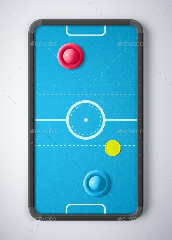 GraphicRiver Air Hockey Table 10695039
