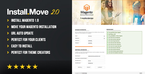 Magento Installer/Duplicator and Moving Tool - CodeCanyon Item for Sale