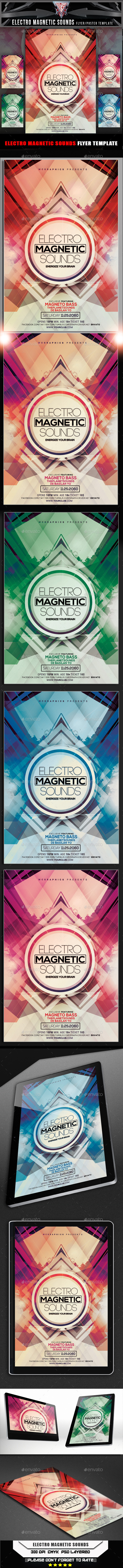 GraphicRiver Electro Magnetic Sounds Flyer Template 10695074