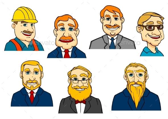 GraphicRiver Different Cartoon Men 10695162