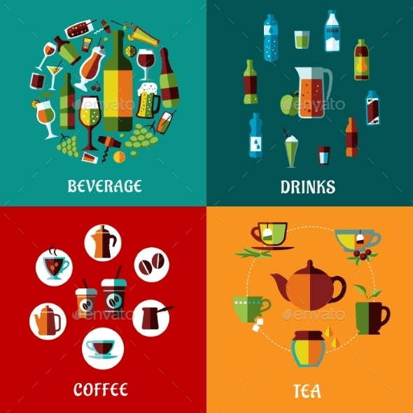 GraphicRiver Drinks and Beverages Compositions 10695374