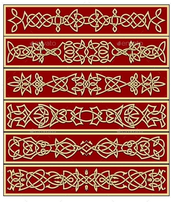 GraphicRiver Borders and Frames in Celtic Style 10695389