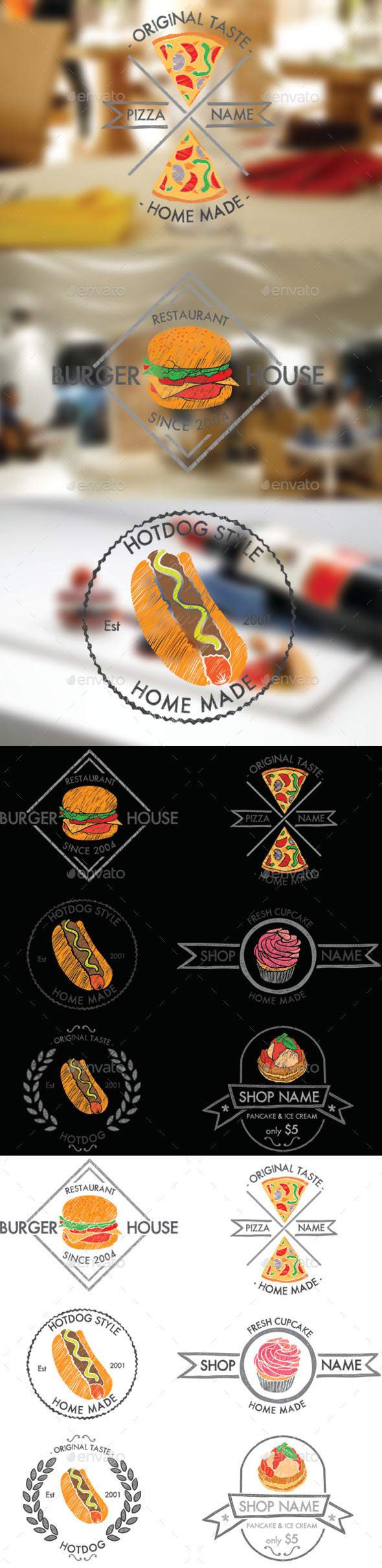 GraphicRiver Food Badges 10695396