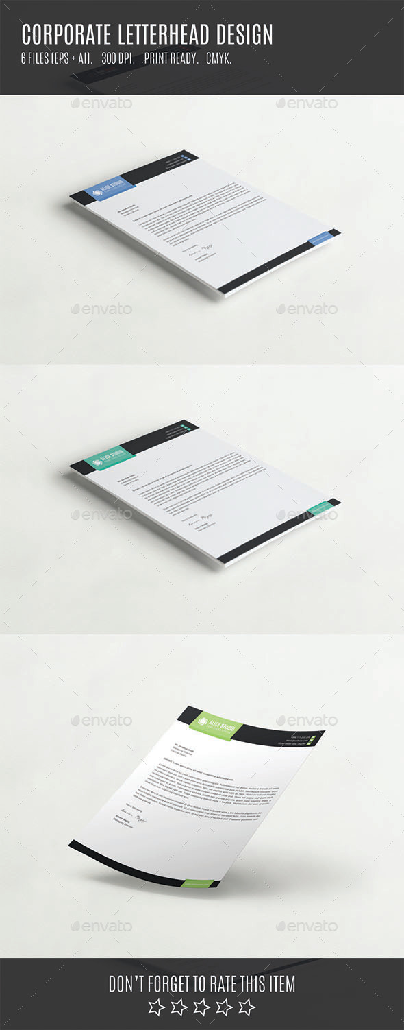 GraphicRiver Corporate Letterhead Design 10695534