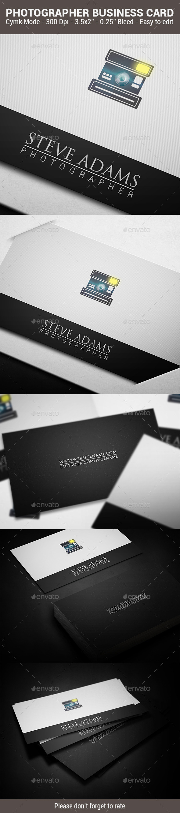 GraphicRiver Photographer Business Card 10695545