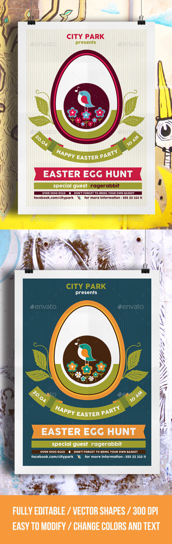 GraphicRiver Easter Egg Hunt Flyer Template 10695606