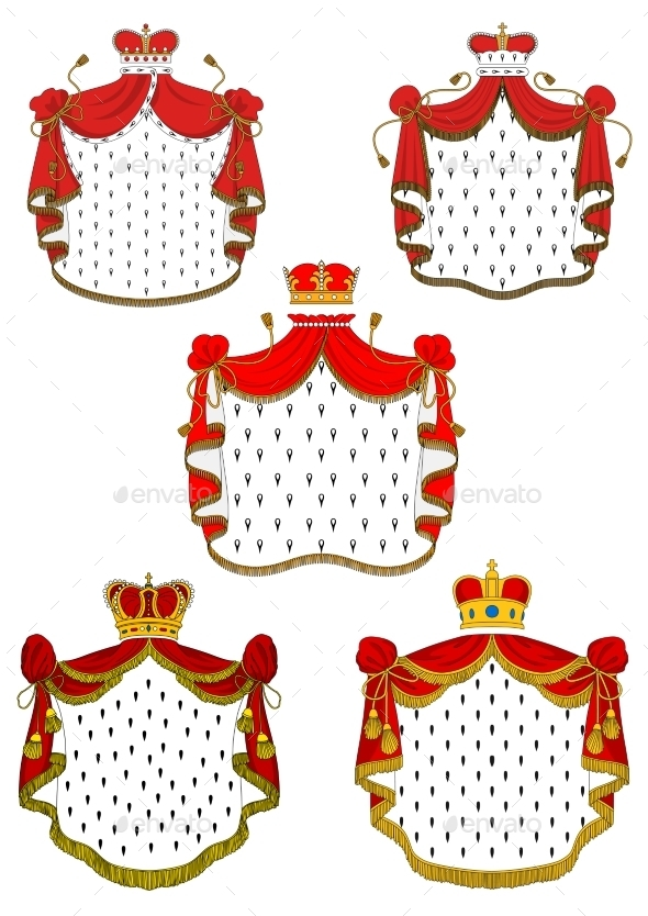 GraphicRiver Heraldic Red Royal Mantles Set 10695665