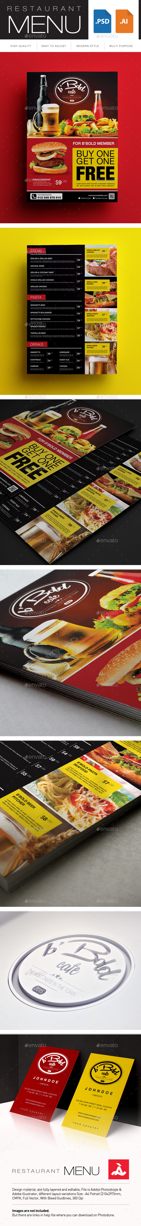 GraphicRiver Restaurant Menu 10695735