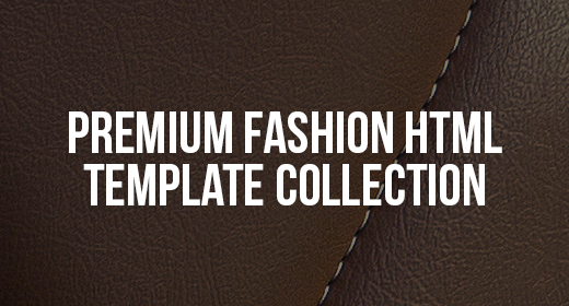 Premium Fashion HTML Template Collection