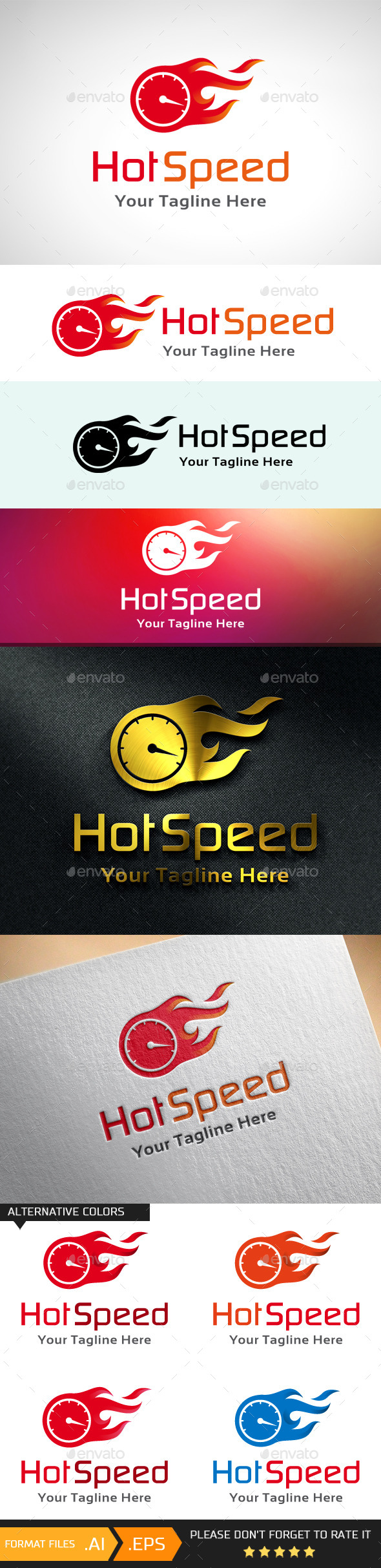 GraphicRiver Hot Speed Logo Template 10695780