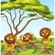 A Group of Lions - GraphicRiver Item for Sale