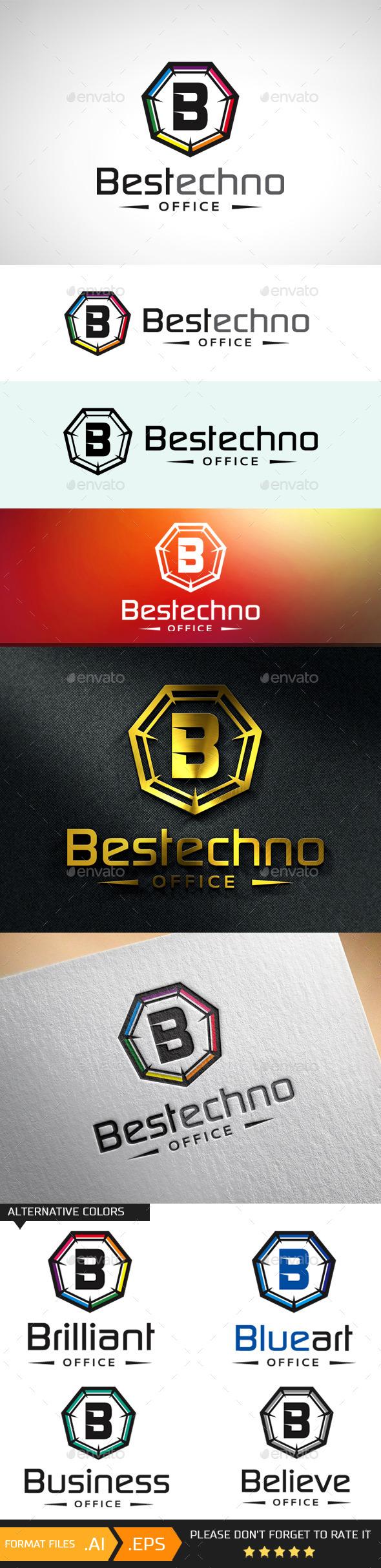 GraphicRiver Letter B Logo Template 10695801