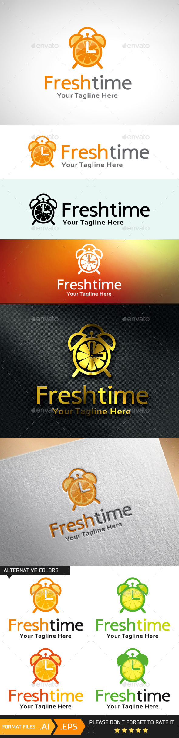 GraphicRiver Fresh Time Logo Template 10695817