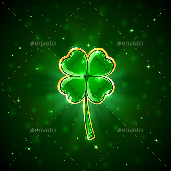 GraphicRiver Green Shiny Clover 10695960