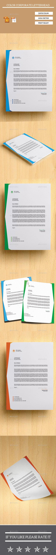 GraphicRiver 2 Style 3 Color Corporate Letterhead 10695995
