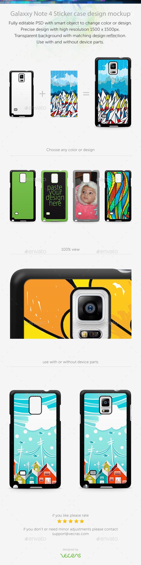 GraphicRiver Galaxxy Note 4 Sticker Case Design Mockup 10696046