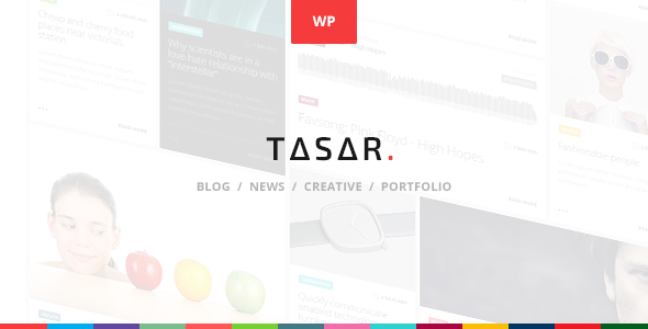 ThemeForest TASAR Creative Portfolio & Frontend Blog Publish 10428508