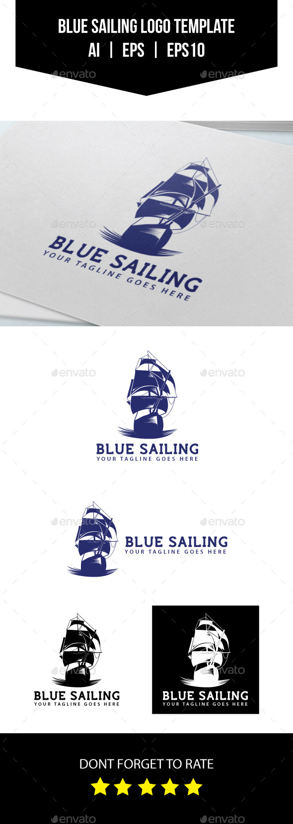 GraphicRiver Blue Sailing Logo Template 10696125