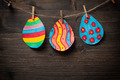 Colorful drawing of Easter eggs - PhotoDune Item for Sale