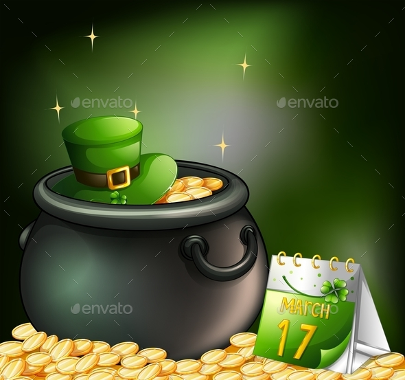 GraphicRiver Pot of Gold and Calendar 10696799