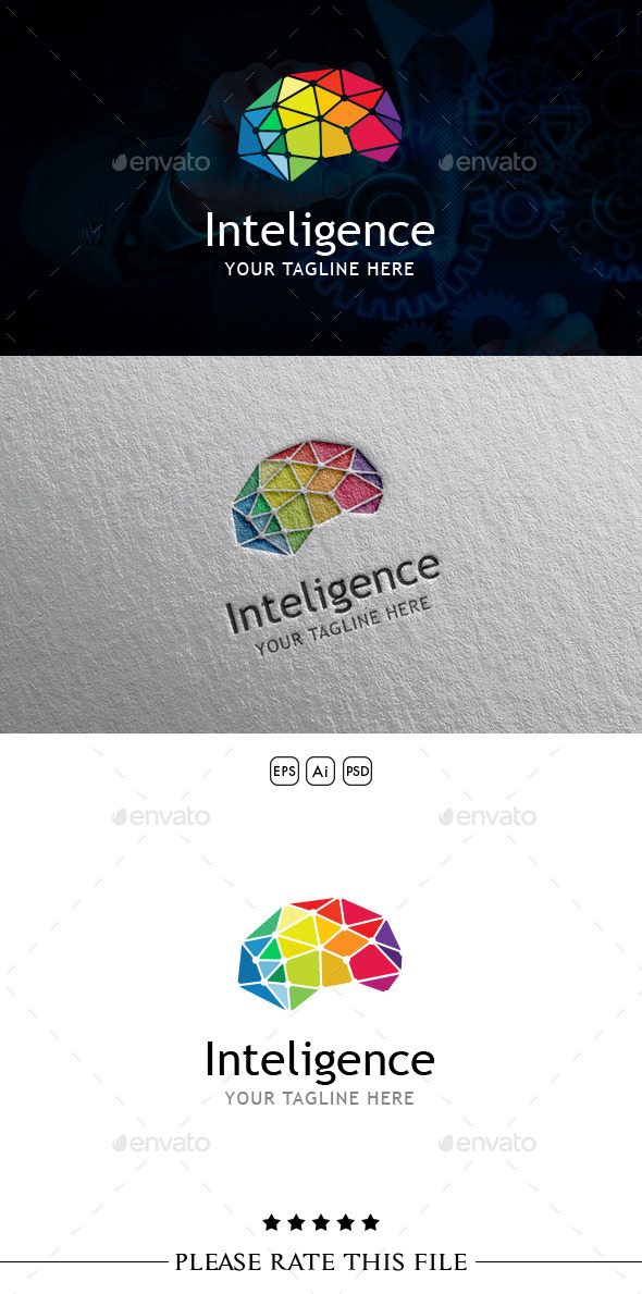 GraphicRiver Inteligence Brain Logo 10696897