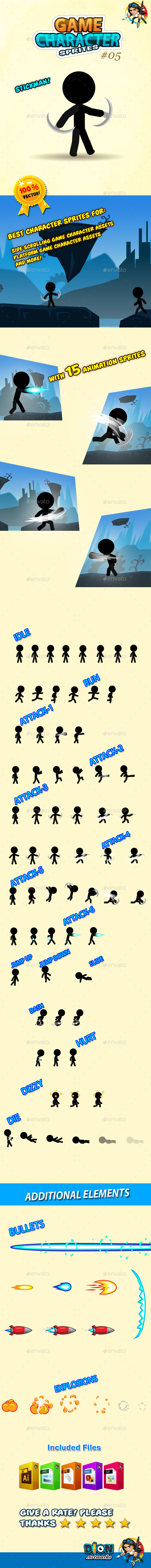 GraphicRiver Stickman Character Sprites 05 10697090