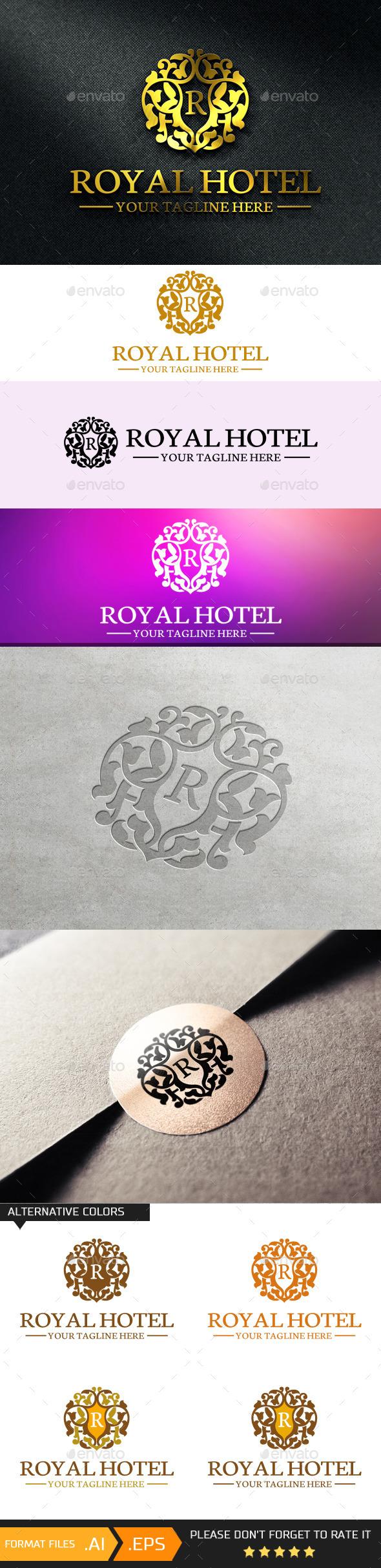 GraphicRiver Hotel Letter R Logo Template 10697094