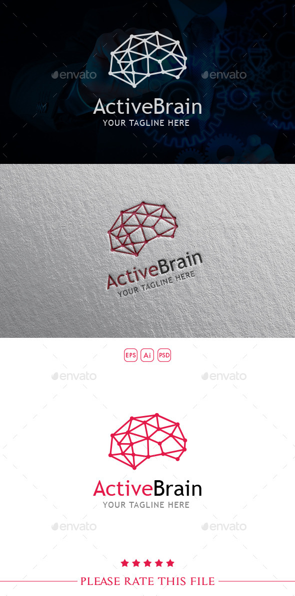 GraphicRiver Brain Logo 10697101