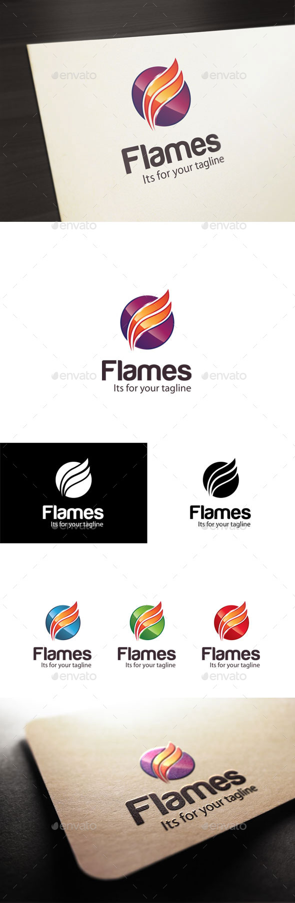GraphicRiver Flames F Letter Logo 10697118