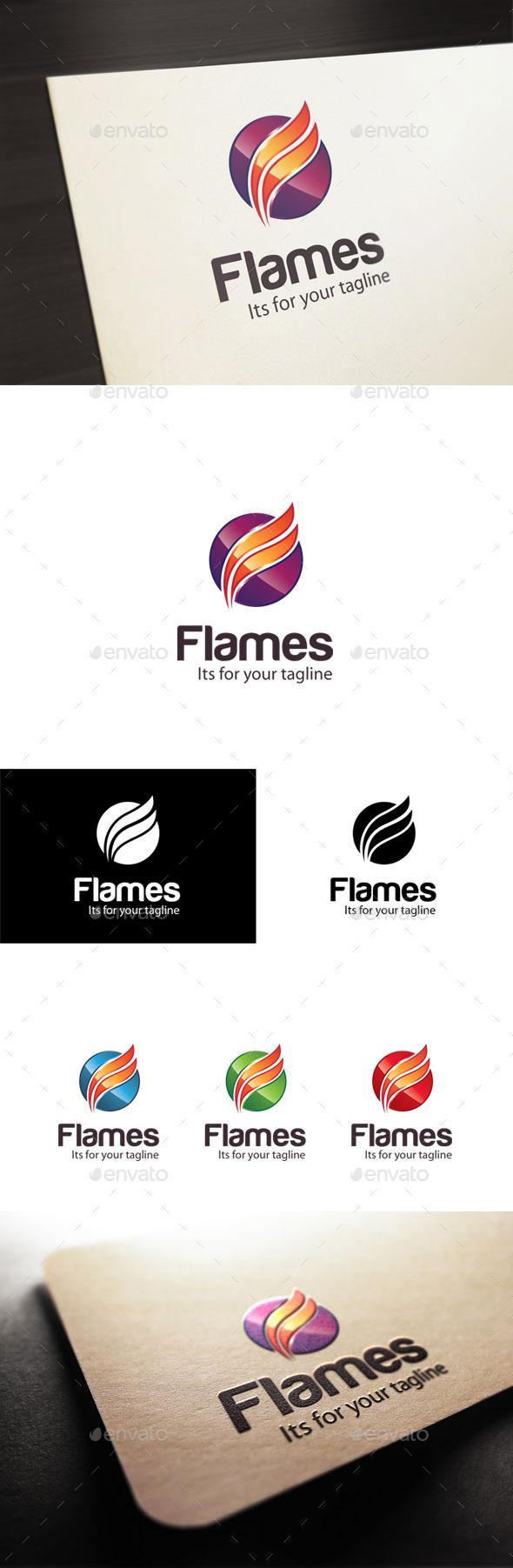 GraphicRiver Flames F Letter Logo 10697118