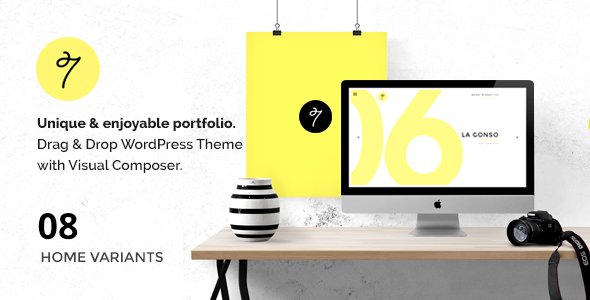 ThemeForest SEVEN Minimal Portfolio Agency WordPress Theme 10697265