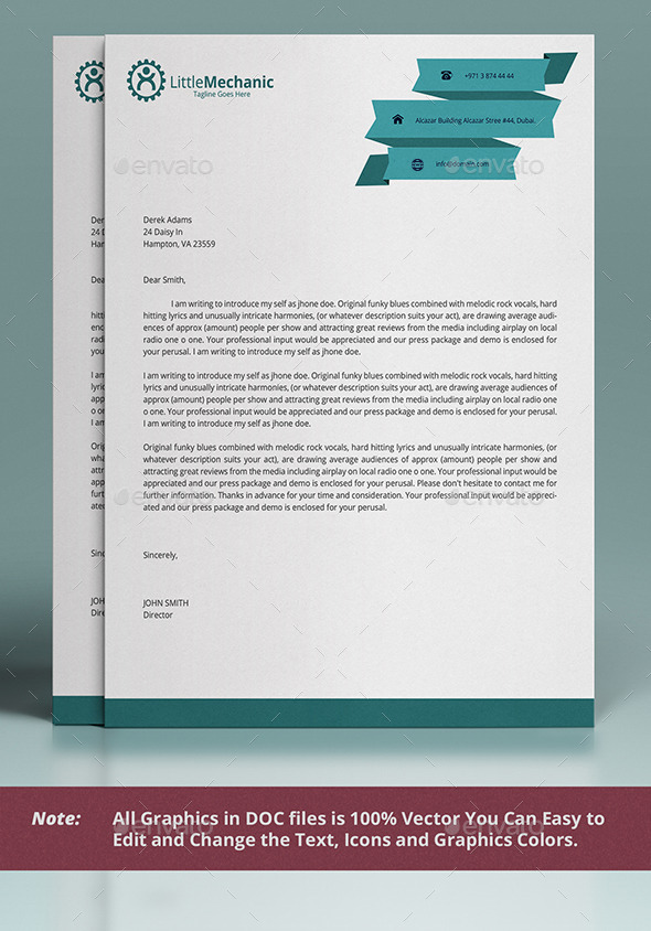 GraphicRiver Letterhead Design 10624748