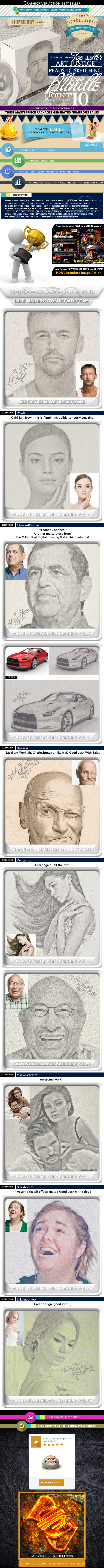 GraphicRiver All Charles Brown Art Justice Realistic Sketching 10697858