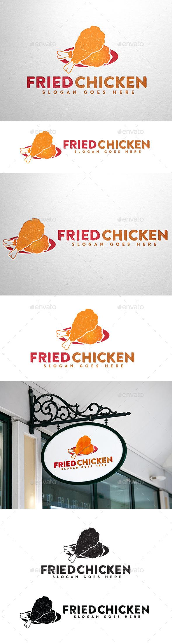 GraphicRiver Fried Chicken Logo 10697949