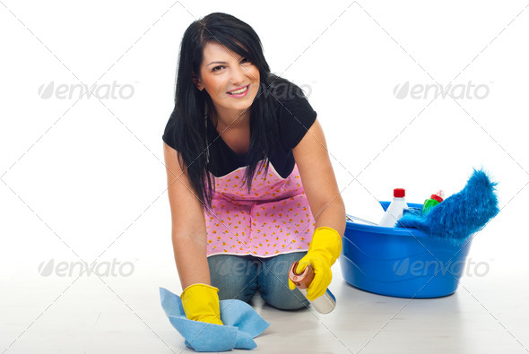PhotoDune Happy cleaning woman 1076530