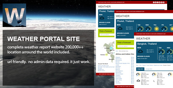 CodeCanyon Weather Portal Site 10698213