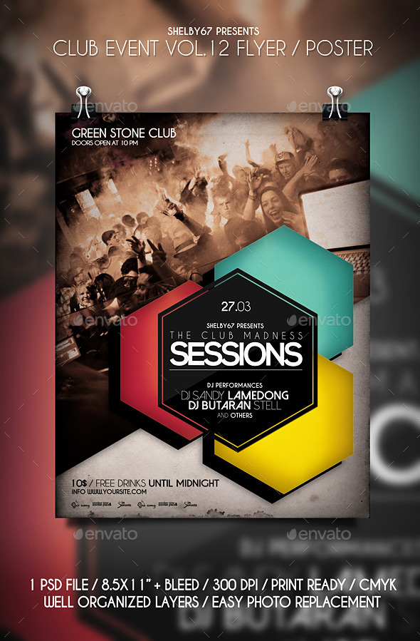 GraphicRiver Club Event Flyer Poster Vol.12 10698549