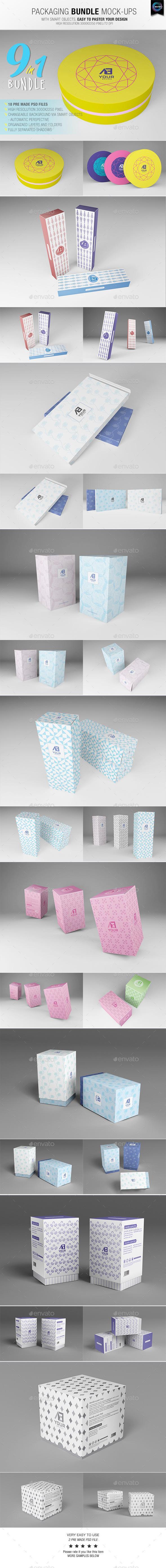 GraphicRiver Packaging Bundle Mock-Ups 10698823